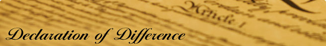 Declaration of Difference