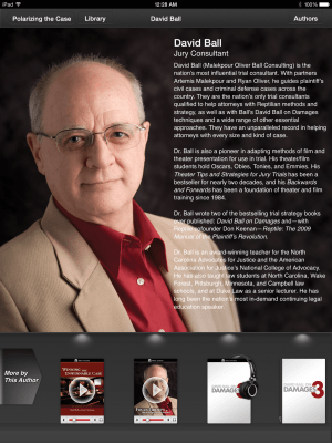 iPad App - David Ball 2